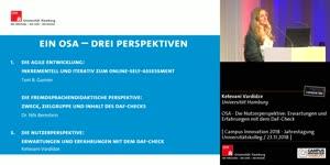 Miniaturansicht - OSA - Die Nutzerperspektive: Erwartungen und Erfahrungen mit dem DaF-Check
