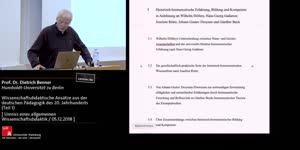 Thumbnail - Wissenschafsdidaktische Ansätze aus der deutschen Pädagogik des 20. Jahrhunderts (Teils 1)