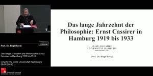 Miniaturansicht - Das lange Jahrzehnt der Philosophie: Ernst Cassirer in Hamburg 1919 bis 1933