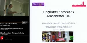 Miniaturansicht - Linguistic Landscapes in Manchester