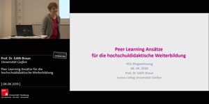 Thumbnail - Peer Learning Ansätze für die hochschuldidaktische Weiterbildung