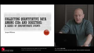Vorschaubild - Collecting quantitative data among CEOs and directors: A series of (un)fortunate events