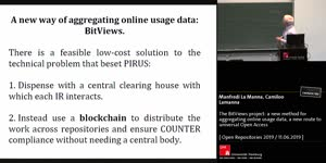 Thumbnail - The BitViews project: a new method for aggregating online usage data, a new route to universal Open Access