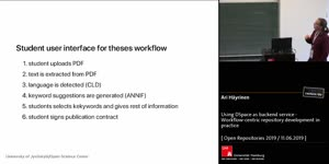 Thumbnail - Using DSpace as backend service - Workflow-centric repository development in practice