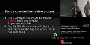 Thumbnail - DSpace 7 - Creating High-Quality Software: Update to Development Practices