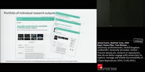 Thumbnail - Practice-based arts research in repositories: how do we better engage with researchers to capture, manage and enable discoverability of this research?