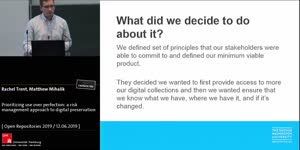 Thumbnail - Prioritizing use over perfection: a risk management approach to digital preservation