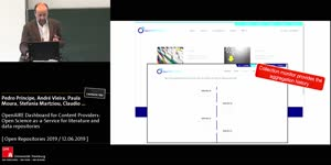 Thumbnail - OpenAIRE Dashboard for Content Providers: Open Science as-a-Service for literature and data repositories