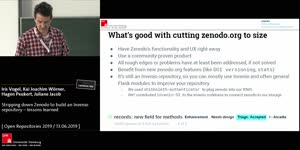 Thumbnail - Stripping down Zenodo to build an Invenio repository – lessons learned