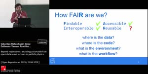 Thumbnail - Beyond repositories: enabling actionable FAIR open data reuse services in particle physics