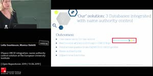 Thumbnail - DSpace ORCID integration: name authority control solution at the European University Institute