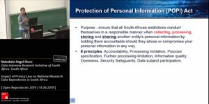 Thumbnail - Impact of Privacy Law on National Research Data Repositories in South Africa