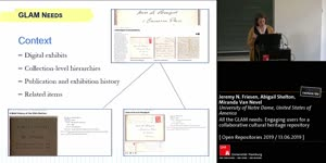 Thumbnail - All the GLAM needs: Engaging users for a collaborative cultural heritage repository