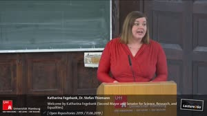 Thumbnail - Welcome by Katharina Fegebank (Second Mayor and Senator for Science, Research, and Equalities)