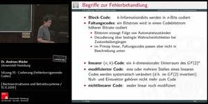 Miniaturansicht - Sitzung 10 - Codierung (Fehlerkorrigierende Codes)