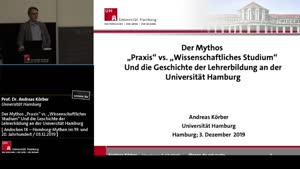 """Miniaturansicht - Der Mythos """"Praxis"""" vs. """"Wissenschaftliches Studium"""" Und die Geschichte der Lehrerbildung an der Universität Hamburg"""