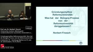 Miniaturansicht - Gründungsmythos Reformuniversität: Was hat der Bologna-Prozess von der Reformuniversität übrig gelassen?