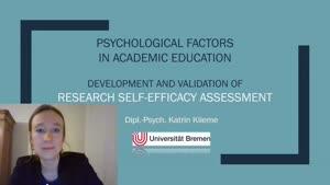 Miniaturansicht - 108 - Psychol Factors in Academic Ed - research self-efficacy - Vortrag