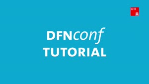 Vorschaubild - Vorlesungen mit DFNconf aufzeichnen