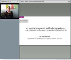 Miniaturansicht - 130 - Universitäre Sprachpraxis und Studienkompetenzen – ein propädeutisches Curriculum für ausländische Studierende - Vortrag