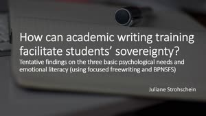 Miniaturansicht - 221 - How can academic writing training  faciltate students' sovereignty? - Vortrag