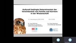 Miniaturansicht - 244 - Kulturell bedingte Determinanten der  Vereinbarkeit von Familie und Karriere  in der Wissenschaft - Vortrag