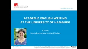 Vorschaubild - Academic English Writing at the University of Hamburg