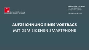 Thumbnail - Aufzeichnung eines Vortrags mit dem Smartphone
