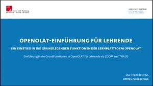Thumbnail - OpenOLAT-Einführung für Lehrende
