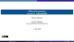 Miniaturansicht - Lecture 5:  Submanifolds