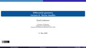 Miniaturansicht - Lecture 6: Vector bundles
