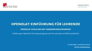 Thumbnail - OpenOLAT-Einführung für Lehrende (Anwendungsszenarien)