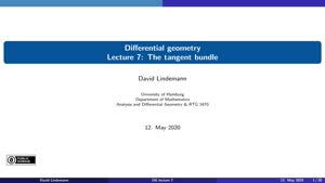 Miniaturansicht - Lecture 7: The tangent bundle