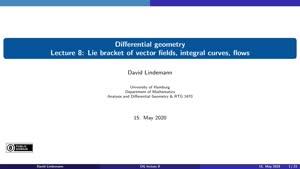 Miniaturansicht - Lecture 8: Lie bracket of vector fields, integral curves, flows