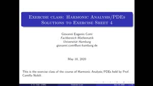 Thumbnail - Exercise class: Harmonic Analysis/PDEs, Lecture 5, Part 1