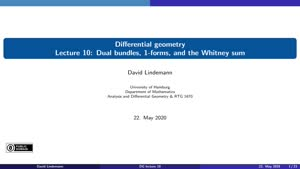 Miniaturansicht - Lecture 10: Dual bundles, 1-forms, and the Whitney sum