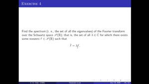 Thumbnail - Exercise class: Harmonic Analysis/PDEs, Lecture 6, Part 3