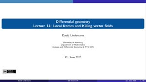 Miniaturansicht - Lecture 14:  Local frames and Killing vector fields