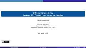 Miniaturansicht - Lecture 15:  Connections in vector bundles