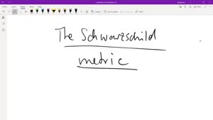 Thumbnail - The Schwarzschild metric