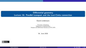 Miniaturansicht - Lecture 16:  Parallel transport and the Levi-Civita connection
