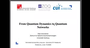 Vorschaubild - From Quantum Dynamics to Quantum Networks