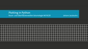 Miniaturansicht - Plotting in Python