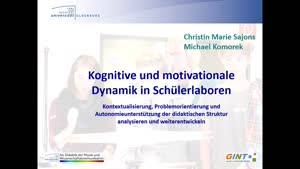 Vorschaubild - Kognitive und motivationale Dynamik in Schülerlaboren (C. Sajons, Universität Oldenburg)