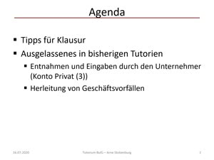 Thumbnail - Bufü Tutorium ArneS 12 - Letztes Tutorium - Buchführung Flinspach