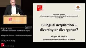 Miniaturansicht - Bilingual acquisition - diversity or divergence?