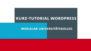 Vorschaubild - Kurz-Tutorial Wordpress