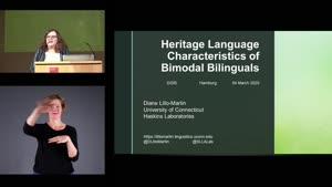 Miniaturansicht - Heritage Language Characteristics of Bimodal bilinguals (German subtitles)