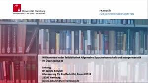Thumbnail - Virtuelle Bibliotheksführung: Teilbibliothek für Allgemeine Sprachwissenschaft , Indogermanistik