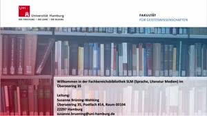 Thumbnail - Virtuelle Bibliotheksführung: Fachbereichsbibliothek SLM (Sprache, Literatur, Medien)